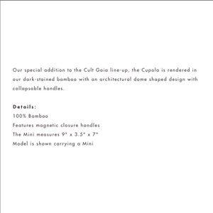 cult gaia Bags - Cult Gaia Cupola bag! Brand new AUTHENTIC